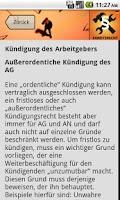 Screenshot of Arbeitsrecht