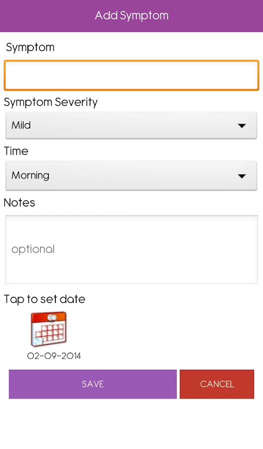 Symptom Tracker - screenshot