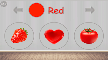 Screenshot of Learning colors for kids