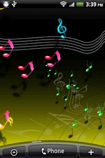 Live Musical Note Free Wall - screenshot thumbnail