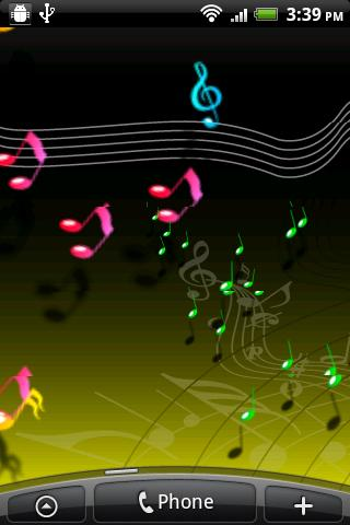 Live Musical Note Free Wall - screenshot