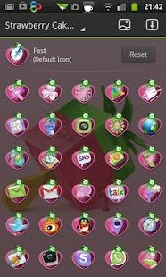 玩個人化App|Strawberry cake Go Launcher EX免費|APP試玩