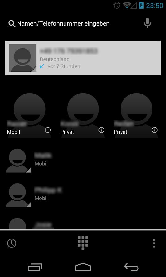 BetterKat CM11 Theme Blue X - screenshot