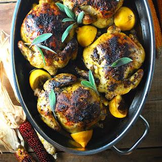 Lemon Sage Roasted Cornish Hens
