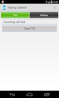 Screenshot of Talking Caller ID Calls & SMS