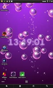 Bubbles & clock live wallpaper screenshot