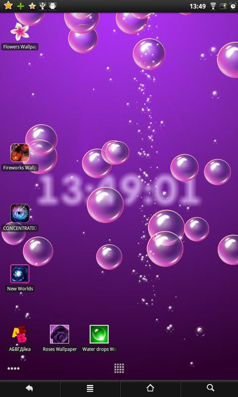 bubbles clock live wallpaper android apps op google play