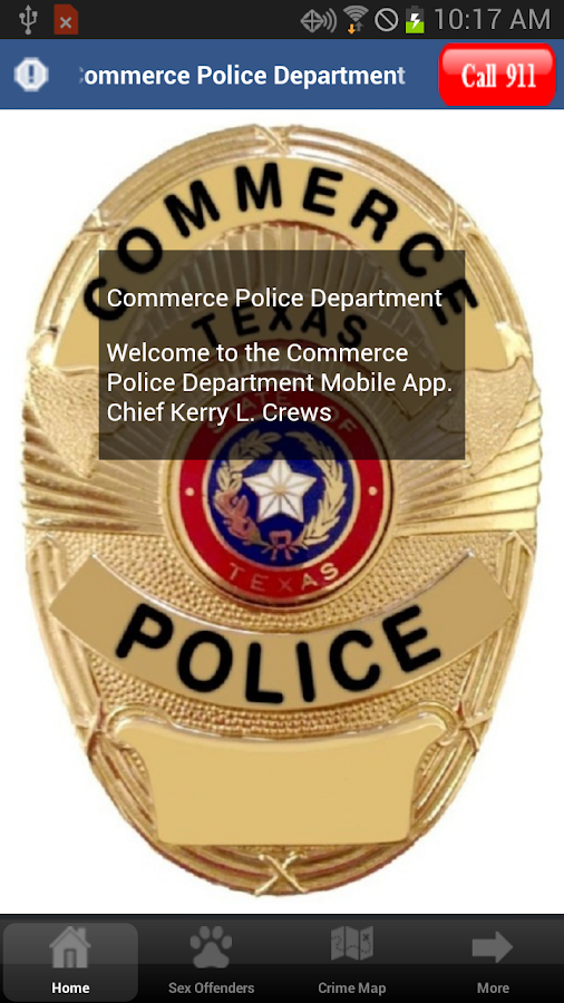 Commerce Police Department- screenshot