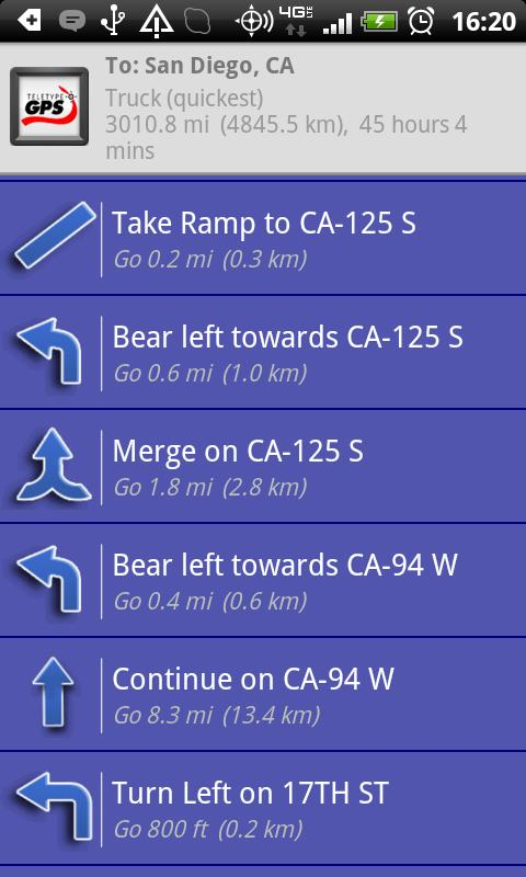 Truck GPS Route Navigation- screenshot