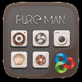 Pure Man GO Launcher Theme