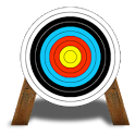 Archer bow shooting icon