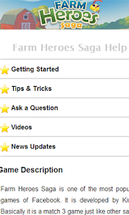 Farm Heroes Saga Help - screenshot thumbnail