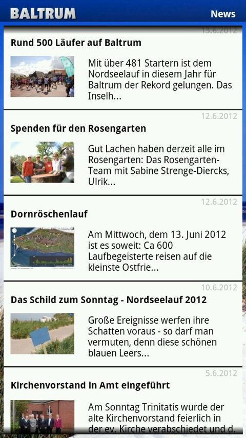 BaltrumApp- screenshot