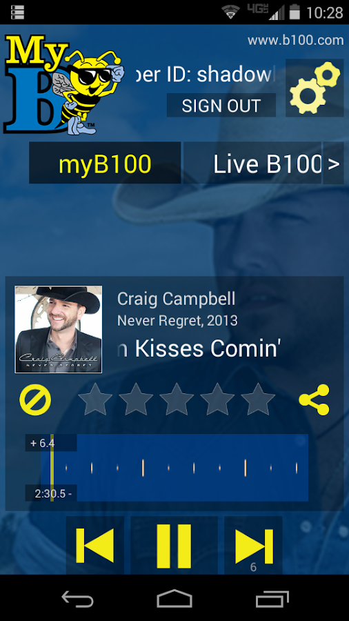 myB100- screenshot