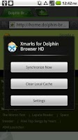 Screenshot of Xmarks for Dolphin *Premium