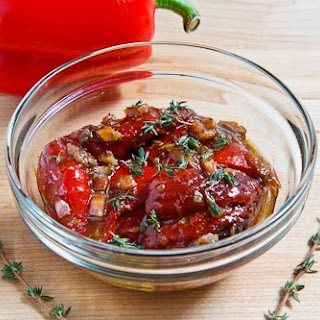 Marinated Roasted Red Peppers.