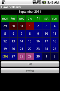 Flower calendar (free)- screenshot thumbnail
