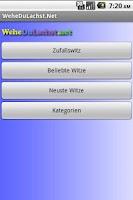 Screenshot of Witze App - WeheDuLachst.Net