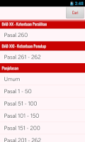 Screenshot of Undang-Undang Pilpres