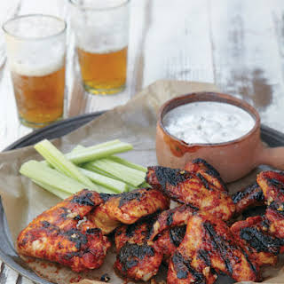 Spicy Chicken Wings with Blue Cheese Dip.