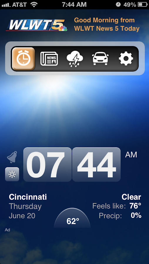 Alarm Clock WLWT 5 Cincinnati - screenshot
