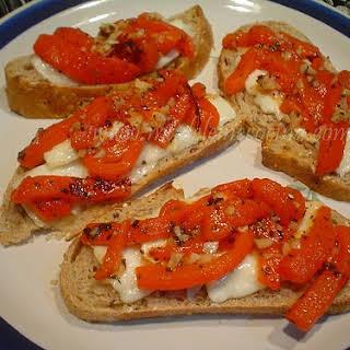 Feta and Red Pepper Crudites.