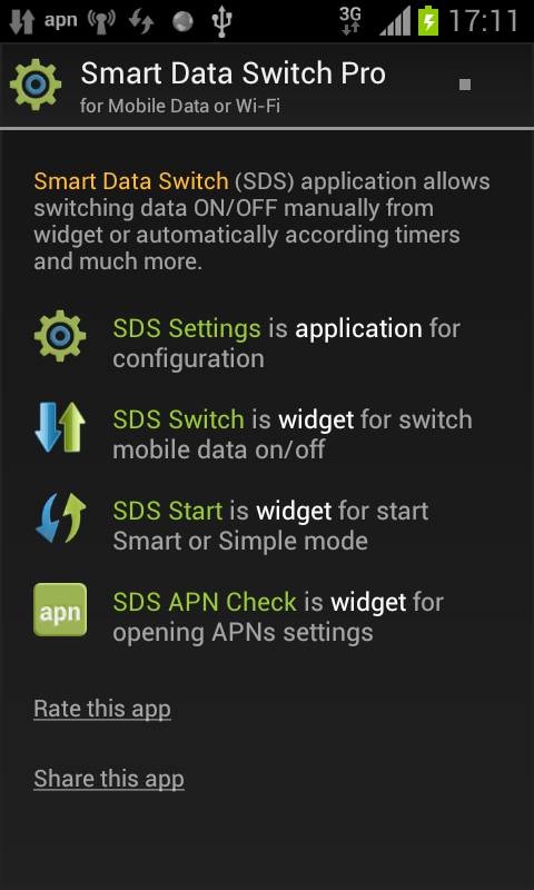 Smart Data Switch Pro- screenshot