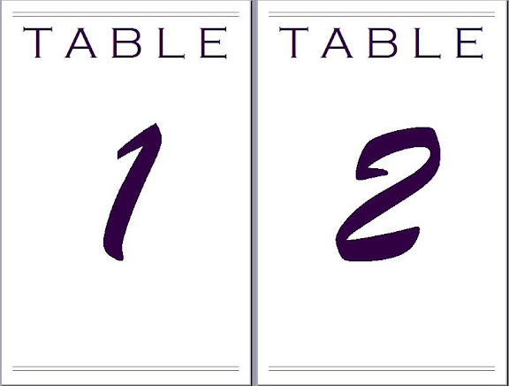 Microsoft Word Template Heres A Picture Of The Table Numbers From Wedding Photo Courtesy Metzger Studios