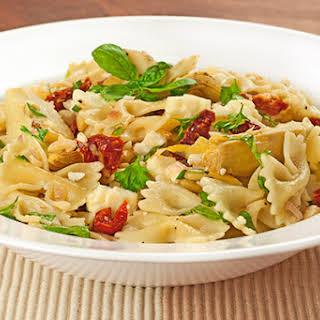 Mediterranean Pasta Salad with Artichokes and Feta.