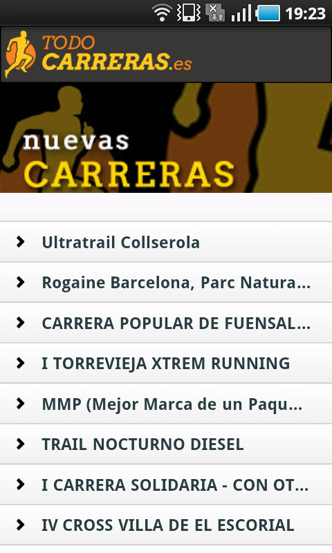 Todo Carreras Populares - screenshot