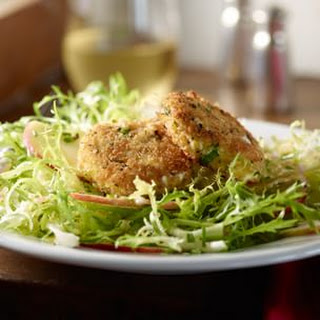 Frisée and Apple Salad with Herb-Crusted Goat Cheese Medallions