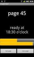 Screenshot of StudyTimer