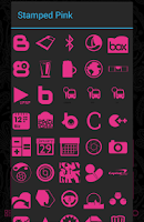 Screenshot of Stamped Pink Icons
