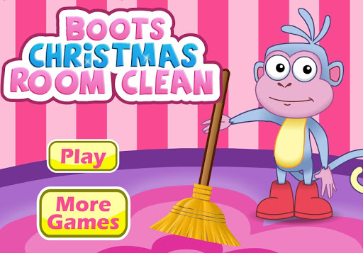 Dora Boot Christmas Room Clean