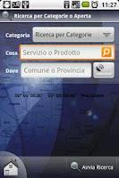 Screenshot of PagineMobile Italia
