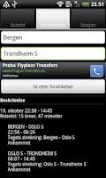 Screenshot of Togtider i Norge