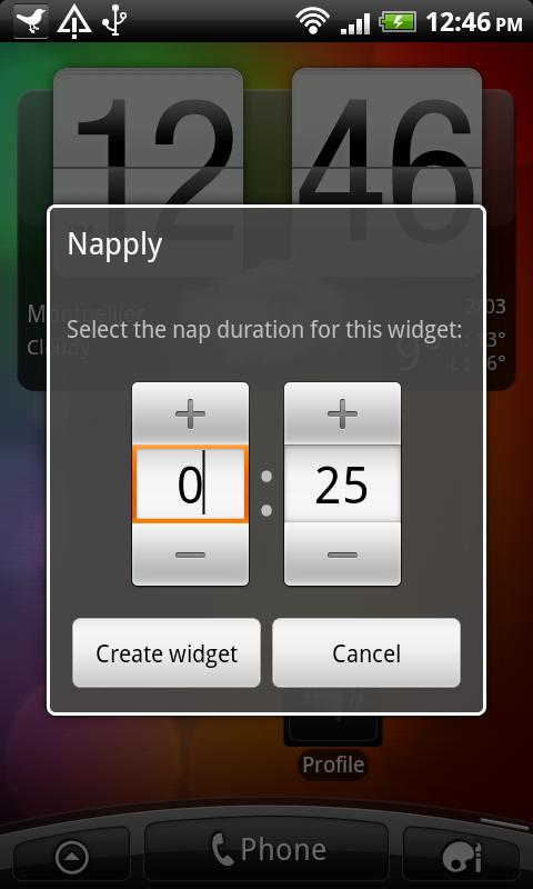 Napply, the quickest nap app - screenshot