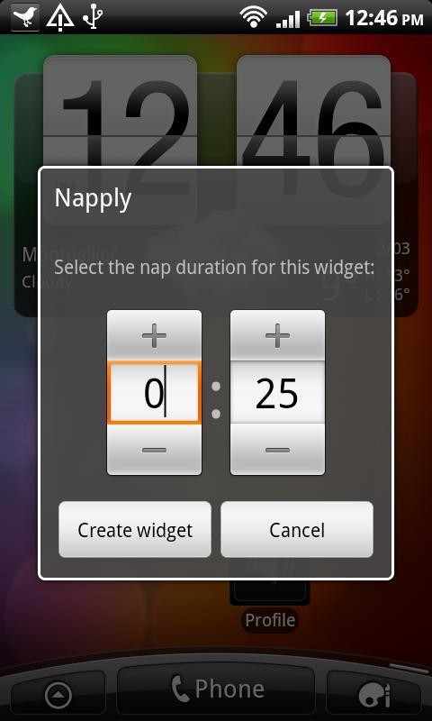 Napply, the quickest nap app - screenshot