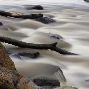 Dights Falls by Anna Gottlieb - Landscapes Waterscapes