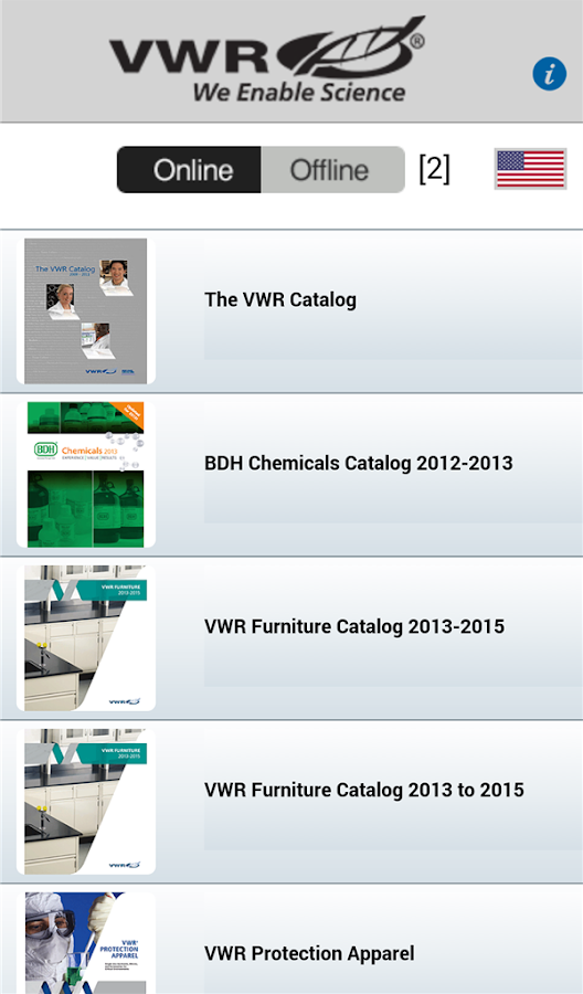 VWR Library- screenshot