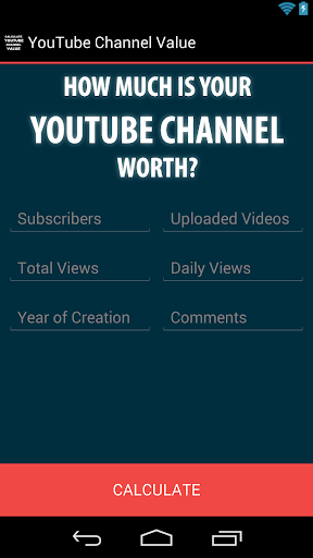 YouTube Channel Value Calc