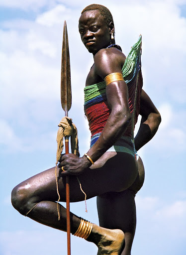Dinka Warrior with Spear