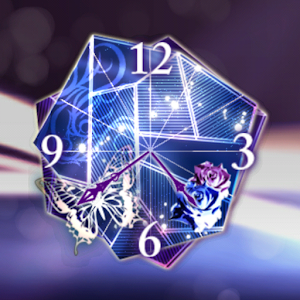 Glass Rose ClockWidget
