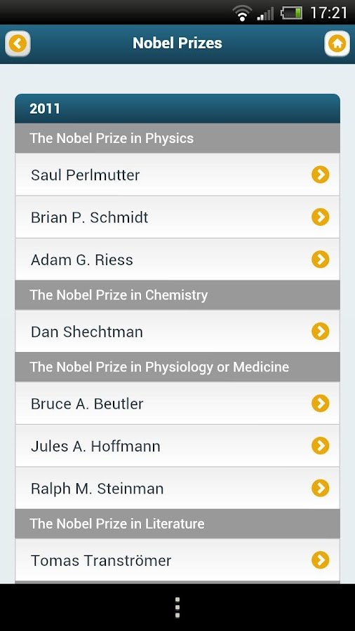 Nobel Prizes - screenshot