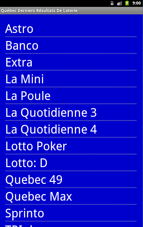 Resultat De Loterie