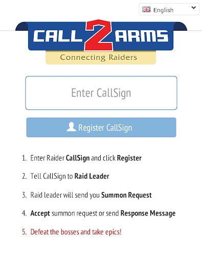 Call2Arms : Connecting Raiders