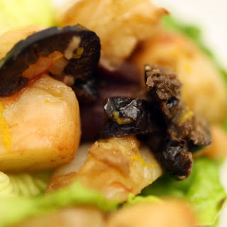 Shrimp and Black Olive Orange and Lime Ceviche in Little Gem Lettuce Cups