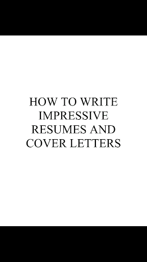 Write a Resume Cover Letter
