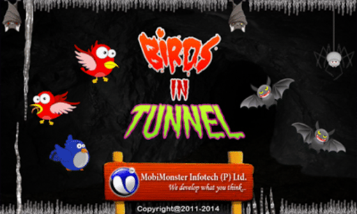 Birds In Tunnel Flapping