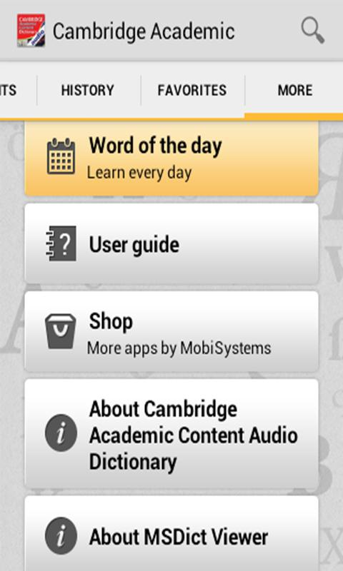 Audio Cambridge Academic TR - screenshot